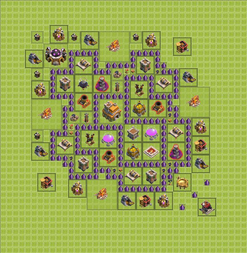 клаш оф кланч 7 ратуша базы главной функцией